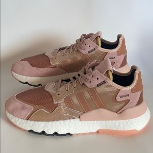 NWT Adidas Nite Jogger rose gold/pink women's 8.5